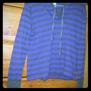Black and Blue Striped Long Sleeve